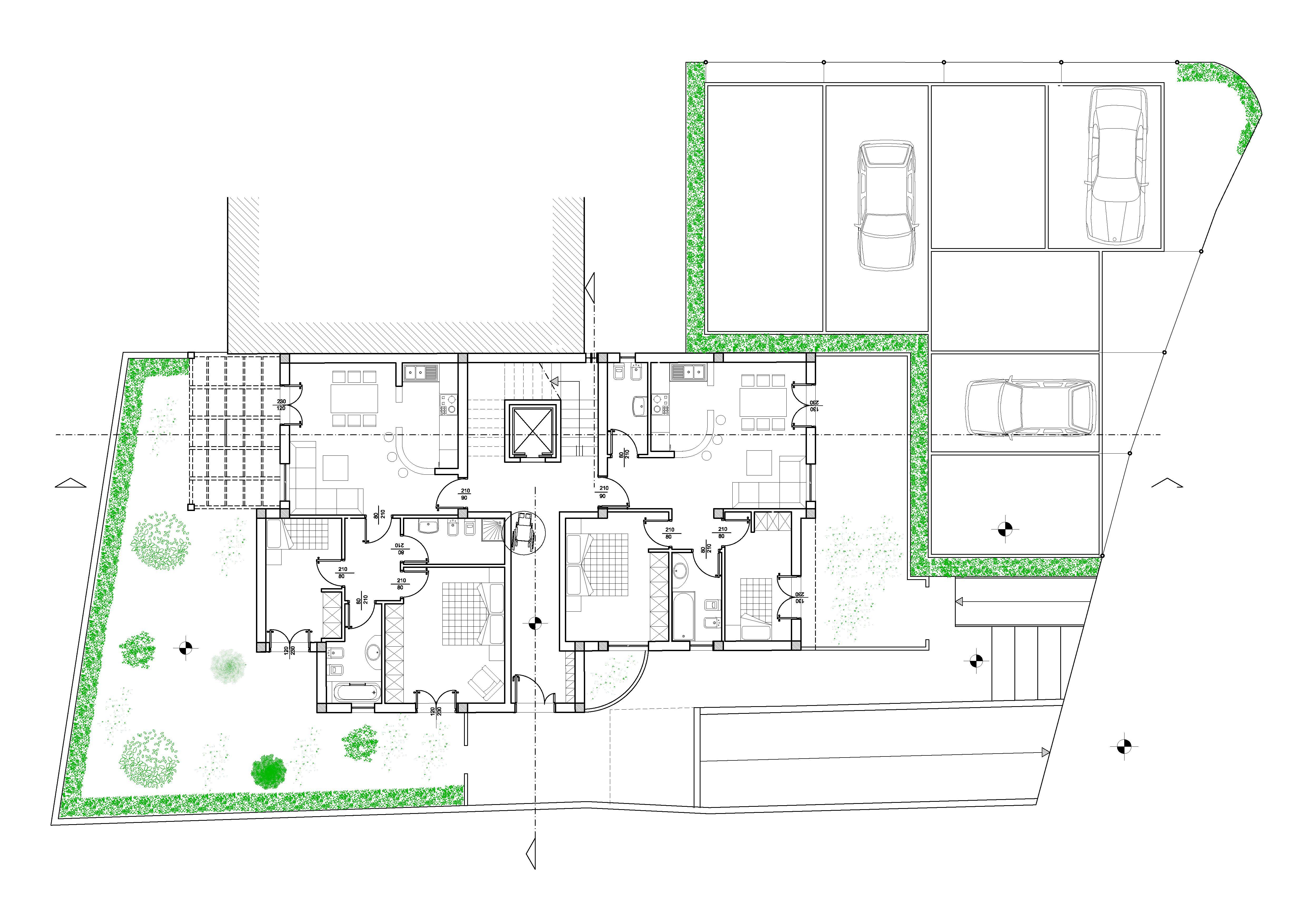 Studio arch luigi carnemolla progetto esecutivo di for Pianta esterna