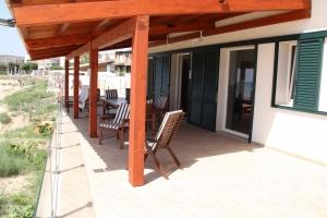 Vista veranda coperta lato est